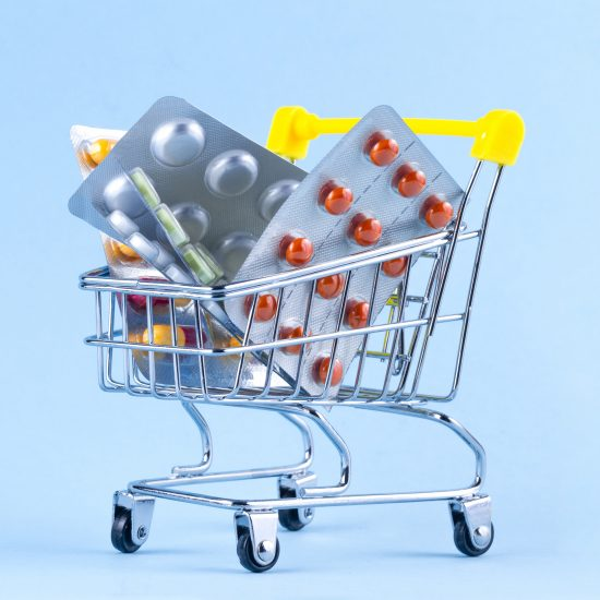 A shopping cart is containing functional medicine available at the BCT.